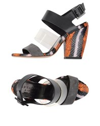Serafini Etoile Footwear Sandals Women Steel Grey