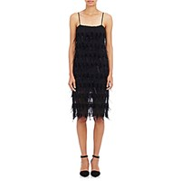 Nili Lotan Women's Feather Embellished Chiffon Cocktail Dress Black Blue Black Blue