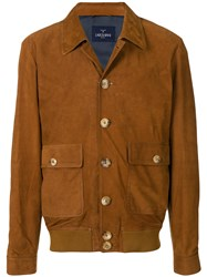 Larusmiani Buttoned Jacket Brown