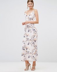 Oh My Love Frill Front Maxi Dress Spring Petal Multi