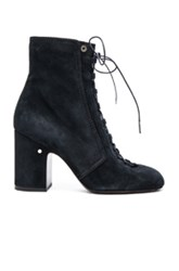 Laurence Dacade Suede Milly Booties In Blue