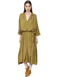 Nehera Oversized Belted Twill Caftan Dress