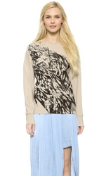 Dagmar Felipa Printed Top Dusty White Print