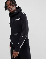 Aape By A Bathing Ape Hoodie With Large Front Pocket Black