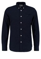 Knowledge Cotton Apparel Slim Fit Shirt Total Eclipse Dark Blue