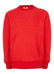 Topman Red Fleece Jumper
