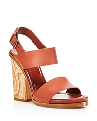 Vince Haley Open Toe High Heel Sandals Whiskey