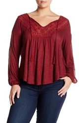 Jessica Simpson Embroidered Blouse Plus Size