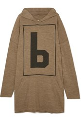 Maison Martin Margiela Mm6 Oversized Wool Blend Jersey Hoodie Army Green
