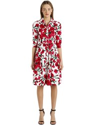 Samantha Sung 3 4 Sleeve Stretch Cotton Shirt Dress