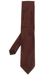 Tom Ford Woven Effect Check Print Tie Red