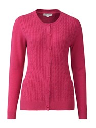 Tulchan Classic Cable Cardigan Pink