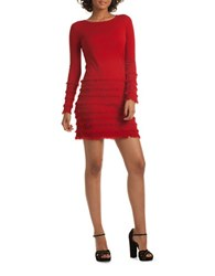 Trina Turk Sass Solid Sweater Dress Red