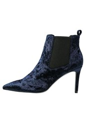 Office Angle Ankle Boots Navy Crushed Blue Dark Blue