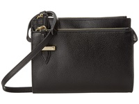 Lodis Stephanie Under Lock Key Trisha Double Zip Wallet On A String Black Wallet Handbags