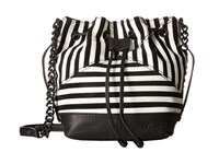 L.A.M.B. Ickett Black White Cross Body Handbags