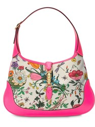 Gucci Jackie Medium Flora Hobo Bag Pink