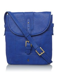 Joules Pu Cross Body Bag Blue