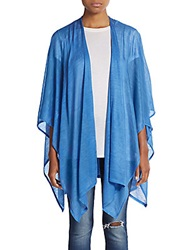 Saks Fifth Avenue Jersey Shawl Aqua