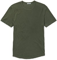 James Perse Slim Fit Cotton Jersey T Shirt Green