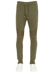 Balmain Biker Cotton Jersey Sweatpants