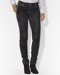 Lauren Ralph Lauren Petites Modern Straight Animal Print Jeans Grey Multi