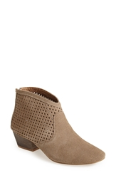 Sixtyseven 'Sofia' Perforated Suede Bootie Women Stone