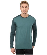 Agave Denim Long Sleeve Vee Streaky Jersey Color Block Jasper Men's Long Sleeve Pullover Brown