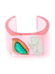 Stella Mccartney 'Mixed Stones Plexi' Bangle Pink And Purple
