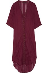 Vix Swimwear Woven Cotton Voile Kaftan Burgundy