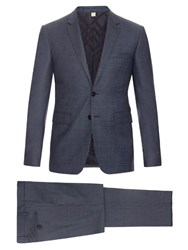 Burberry Stirling Wool Travel Suit Blue