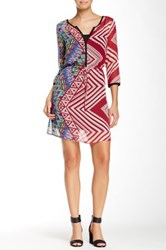 Glam V Neck Printed Dress Multi