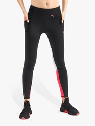 Puma Feel It 7 8 Training Tights Black Pink Alert