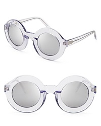 Wildfox Couture Wildfox Twiggy Deluxe Mirror Sunglasses Crystal Silver Mirror