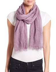Lord And Taylor Tonal Jeweled Scarf Berry