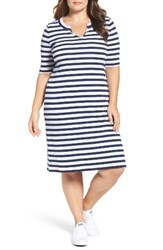 Three Dots Plus Size Women's Rib Knit T Shirt Dress