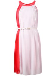 Blumarine Pleated Sleeveless Dress Women Polyester 40 Pink Purple