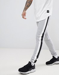 Sixth June Skinny Joggers In Grey With Side Stripe
