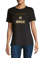 Knowlita Cleveland Or Nowhere Tee Black Gold