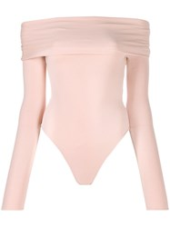 Alexandre Vauthier Fitted Cut Out Bodysuit Pink