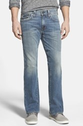 True Religion 'Billy' Relaxed Bootcut Jeans White Pine Blue