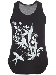 Alexander Mcqueen Bird Skull Tank Top Black
