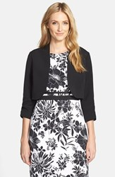 Women's Adrianna Papell Stretch Crepe Bolero Black