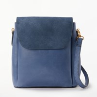And Or Isabella Leather Mini Backpack Denim Blue