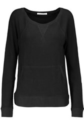 Yummie Tummie By Heather Thomson Stretch Cotton And Modal Blend Sweater Black