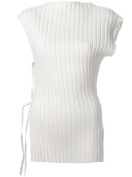 Jacquemus Ribbed Blouse Nude Neutrals