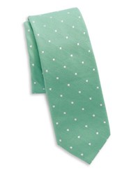 Original Penguin Silk And Cotton Tie Green