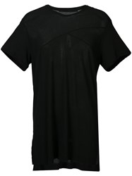 Julius Oversized V Neck T Shirt Black