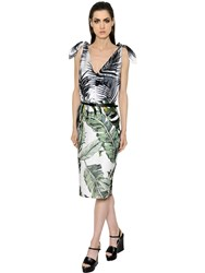 Max Mara Tropical Silk Twill And Linen Natte Dress