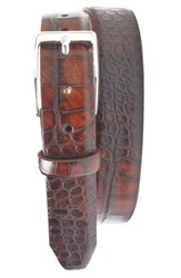 Men's Big And Tall Martin Dingman 'Anthony' Leather Belt Brown